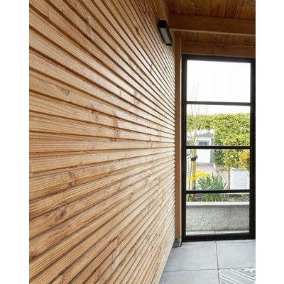 Afbeelding 8 van WoodAcademy Zijwand 400 cm glas met roede*