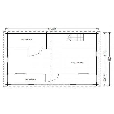 Afbeelding 5 van Graed Livington Chalet 600x600 cm, 44 + 44 mm (Dubbelwandig)