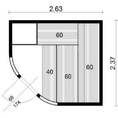 Bild 21 von Azalp Sauna Runda 263x237 cm, Fichte