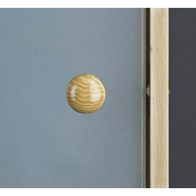 Afbeelding 2 van Ilogreen Saunadeur Trend (Elzen) 189x79 cm, melkglas