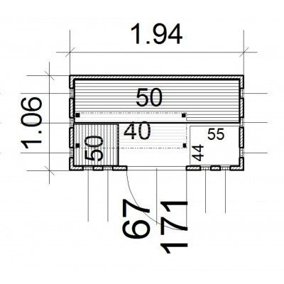 Afbeelding 13 van Azalp massieve sauna Alku 194x106 cm, 40 mm