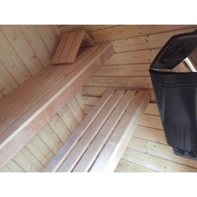 Afbeelding 13 van Azalp Buitensauna Barrel 205x175 cm in 45 mm