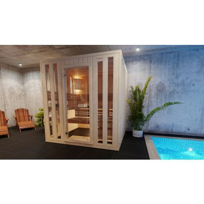 Afbeelding 2 van Azalp massieve sauna Alku 194x161 cm, 40 mm