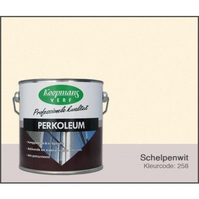 Hoofdafbeelding van Koopmans Perkoleum, Schelpenwit 258, 2,5L Hoogglans (O)