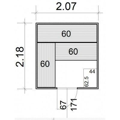 Afbeelding 5 van Azalp Massieve sauna Rio Standaard 207x218 cm, 39 mm