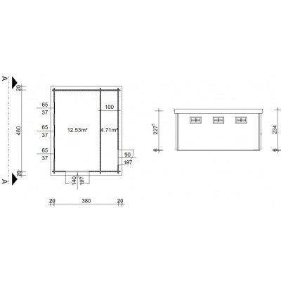 Bild 19 von Azalp Blockhaus Lars 400x500 cm, 45 mm