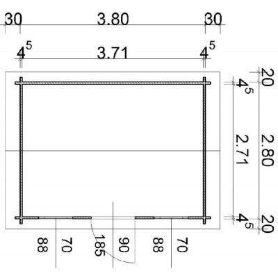 Afbeelding 55 van Azalp Blokhut Lis 400x300 cm, 45 mm