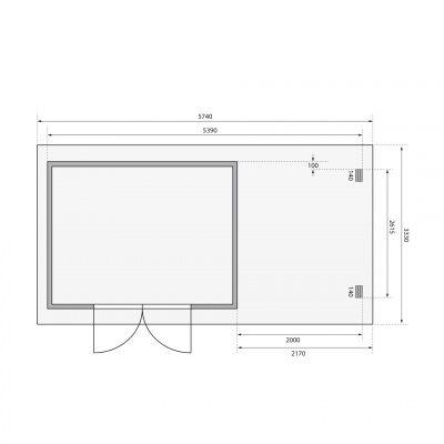Bild 2 von Woodfeeling Bastrup 7 mit Veranda 200 cm (78674)