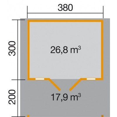 Bild 2 von Weka Weekendhaus 137 Gr. 1 mit Vordach 200cm