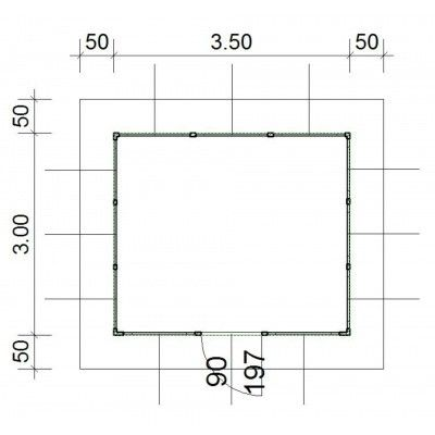 Afbeelding 4 van SmartShed Blokhut Amando 350x300 cm, 45 mm