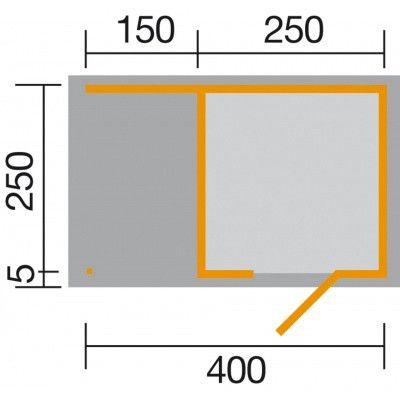 Afbeelding 2 van Weka Designhuis 413 A Gr.1, 400x250 cm
