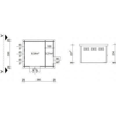 Bild 19 von Azalp Blockhaus Lars 400x350 cm, 45 mm