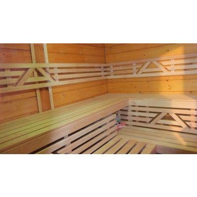 Afbeelding 29 van Azalp Saunabank recht, Elzen breedte 60 cm