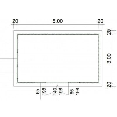 Afbeelding 2 van SmartShed Blokhut Zenon 500x300 cm, 30 mm