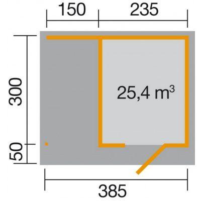 Afbeelding 2 van Weka Designhuis 172 A Gr.2, 385x300 cm Zweeds rood