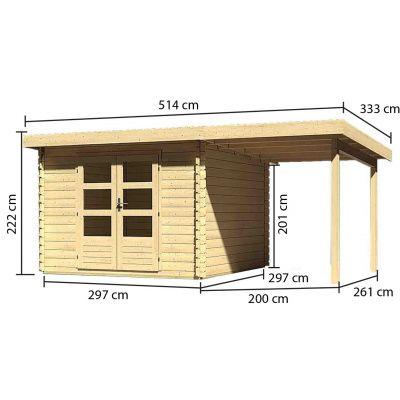Afbeelding 3 van Woodfeeling Bastrup 5, zijluifel 200 cm (73990)