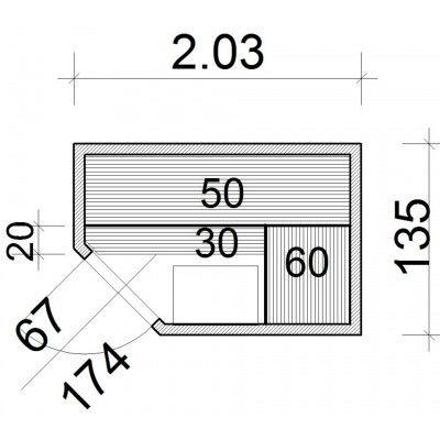 Afbeelding 52 van Azalp Elementhoeksauna 203x135 cm, elzen