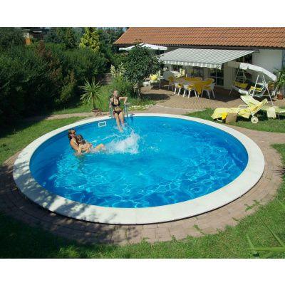 Hoofdafbeelding van Trend Pool Boordstenen Ibiza 350 wit (complete set rond)