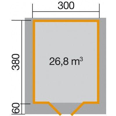 Bild 2 von Weka Gartenhaus Premium28 Gr. 5 mit Vordach