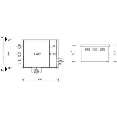 Bild 20 von Azalp Blockhaus Lars 500x400 cm, 45 mm