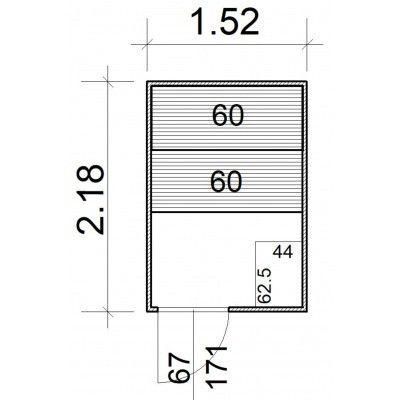 Afbeelding 5 van Azalp Massieve sauna Rio Standaard 152x218 cm, 39 mm