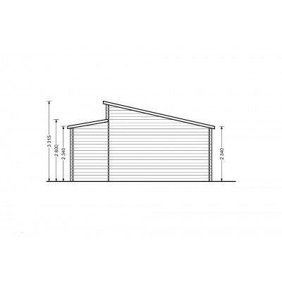 Afbeelding 9 van Graed Modern Garage 600x800 cm, 44 mm