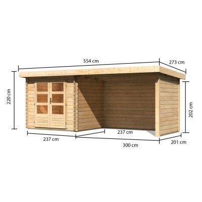 Afbeelding 2 van Woodfeeling Bastrup 2 met veranda 300 cm (91531)
