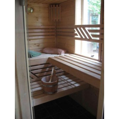 Afbeelding 5 van Azalp Massieve sauna Genio 240x230 cm, 45 mm