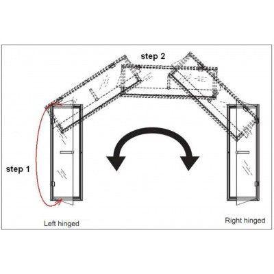 Afbeelding 6 van Hot Orange Stoombad deur Au Premium 90x210 cm, mat blank