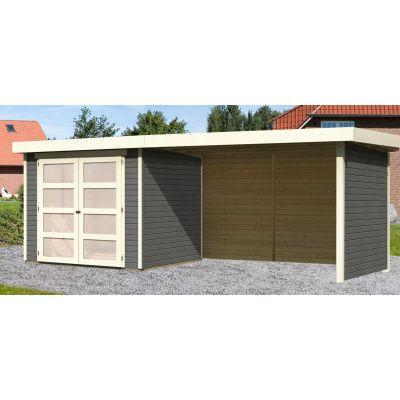 Hoofdafbeelding van Woodfeeling Leuven 3 met veranda 280 cm Terragrijs