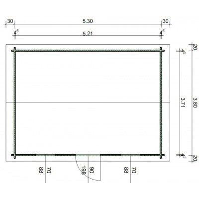 Bild 55 von Azalp Blockhaus Lis 550x400 cm, 45 mm