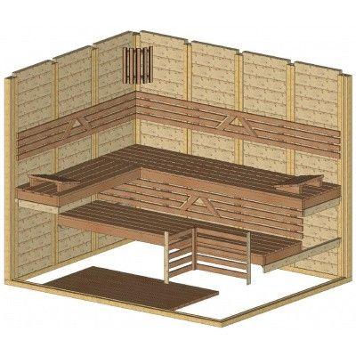 Afbeelding 43 van Azalp Massieve sauna Genio 250x200 cm, 60 mm