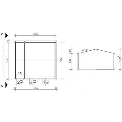 Bild 9 von Azalp Blockhaus Karlijn 550x500 cm, 45 mm