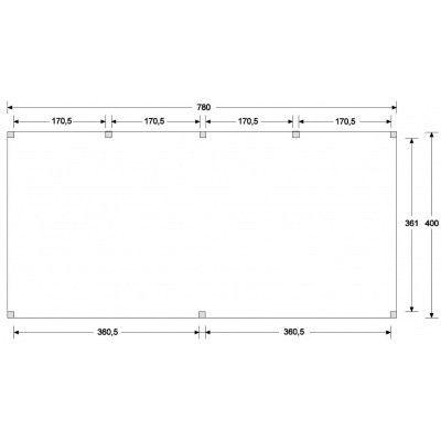 Afbeelding 5 van WoodAcademy Earl Nero Overkapping 780x400 cm