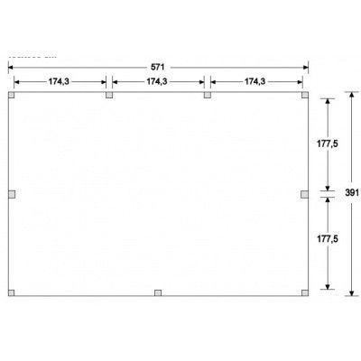 Afbeelding 4 van WoodAcademy Nobility Nero Tuinhuis 580x400 cm