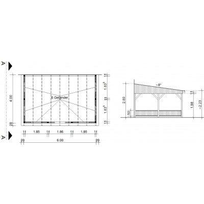 Bild 34 von Azalp Terrassenüberdachung Holz 600x400 cm