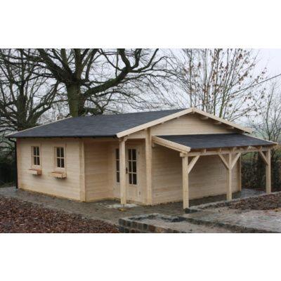 Afbeelding 14 van Azalp CLASSIC blokhut Cottage Style Cumberland 520x430 cm, 45 mm
