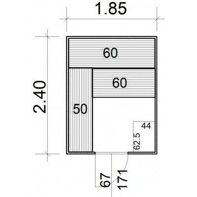 Afbeelding 5 van Azalp Massieve sauna Rio Standaard 185x240 cm, 39 mm