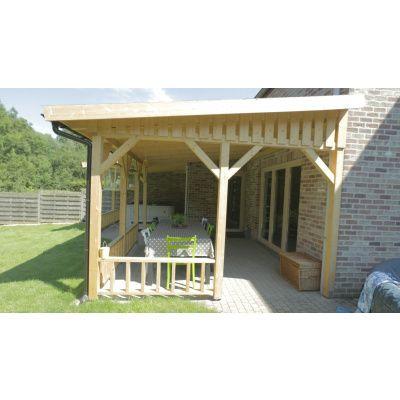 Afbeelding 13 van Azalp Houten veranda 400x400 cm