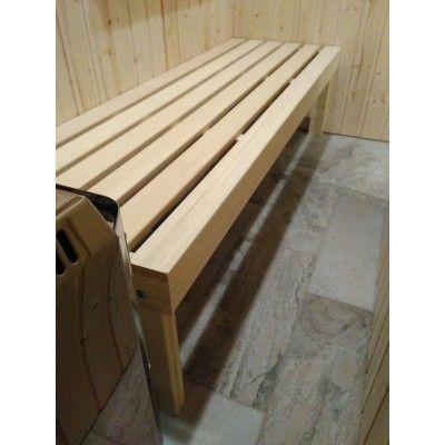 Bild 3 von Azalp Saunabank freistehend, Abachi 60 cm breit