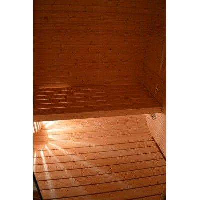 Bild 5 von Azalp Fasssauna Oval 402x240 cm, zwei Zimmer + Terrasse