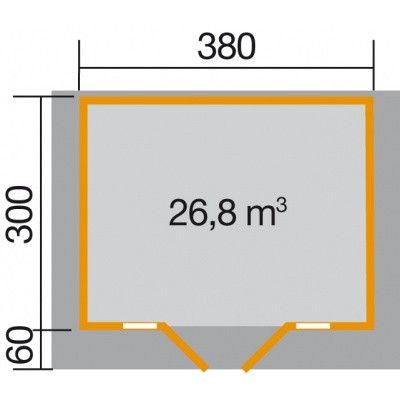 Afbeelding 2 van Weka Weekendhuis 137 Gr. 1 met Luifel 60cm