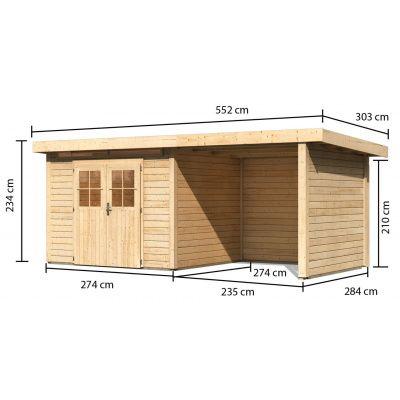 Afbeelding 2 van Woodfeeling Kortrijk 3 met veranda 240 cm