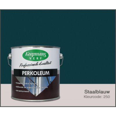 Hoofdafbeelding van Koopmans Perkoleum, Staalblauw 250, 2,5L Zijdeglans (O)
