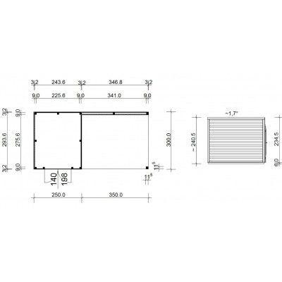 Afbeelding 18 van SmartShed Blokhut Ligne Ultra 600x300 cm