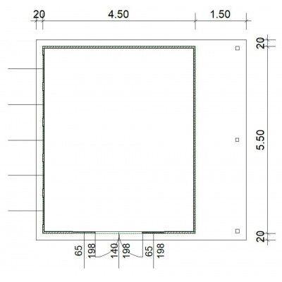 Afbeelding 4 van SmartShed Blokhut Isidro 450x550 cm, 45 mm