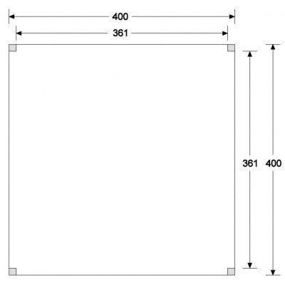 Afbeelding 6 van WoodAcademy Graniet excellent Douglas blokhut 400x400 cm