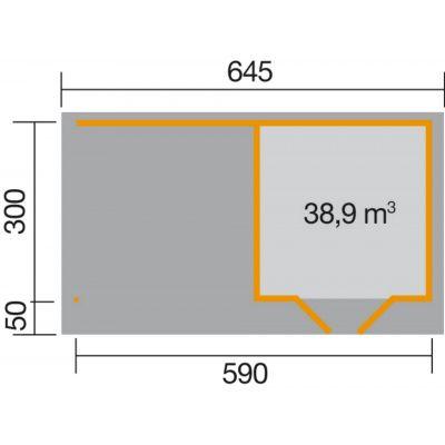 Bild 2 von Weka Designhuis 126 B Gr.2, 590x300 cm anthrazit
