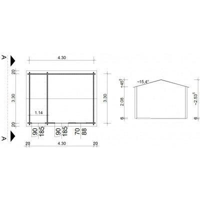 Bild 9 von Azalp Blockhaus Karlijn 450x350 cm, 45 mm