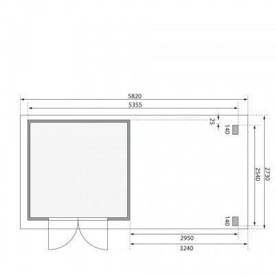 Afbeelding 2 van Woodfeeling Kandern 3, zijluifel 300 cm (82995)